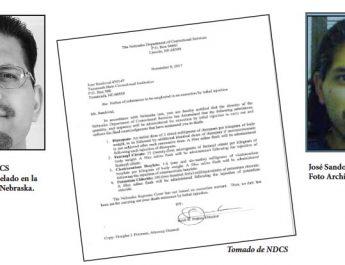 José Sandoval recibe aviso del NDCS  sobre las sustancias que le serán suministradas por inyección letal